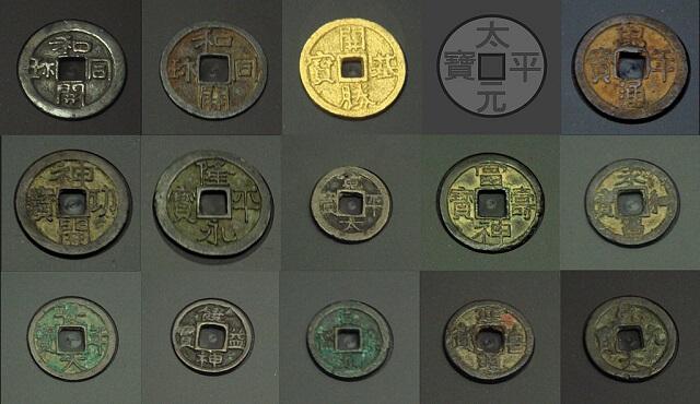 (画像出典「https://ja.wikipedia.org/wiki/皇朝十二銭」)