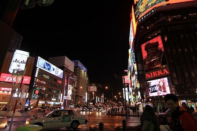 北海道の夜の街