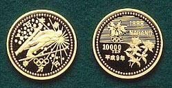 (画像出典:長野オリンピック記念硬貨)