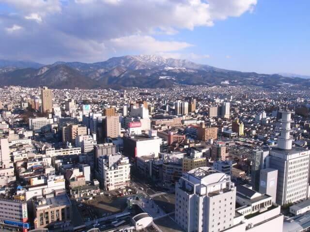 山形県の街並み