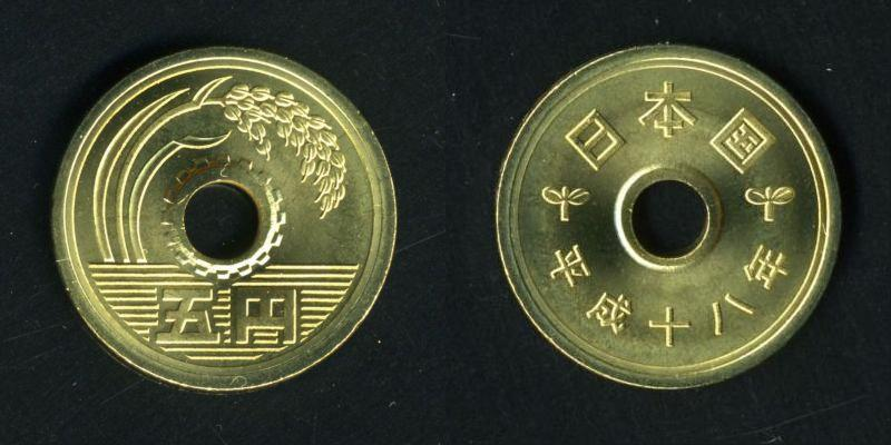 (画像出典:wiki「五円硬貨」)