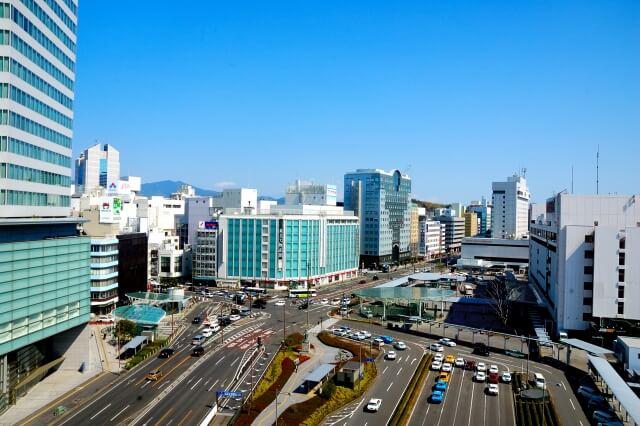 静岡県の街並み